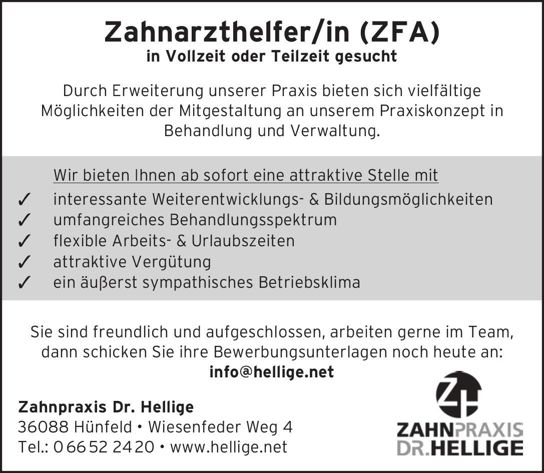Stellenanzeige ZFA 2018